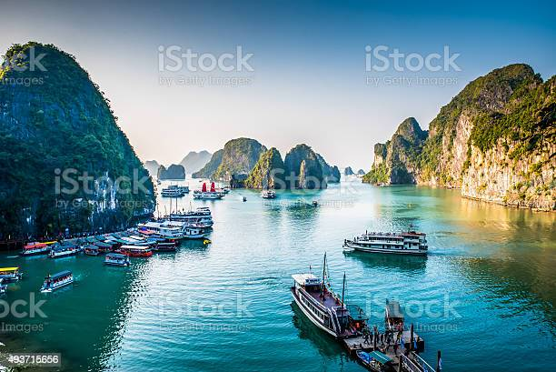 Amazing Halong Bay in the north of Vietnam