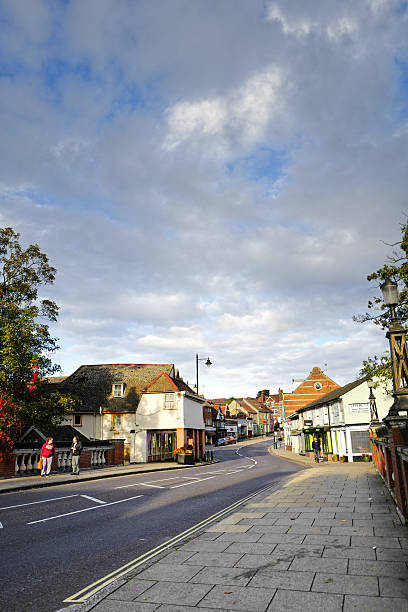 halstead town. - halstead town stock-fotos und bilder