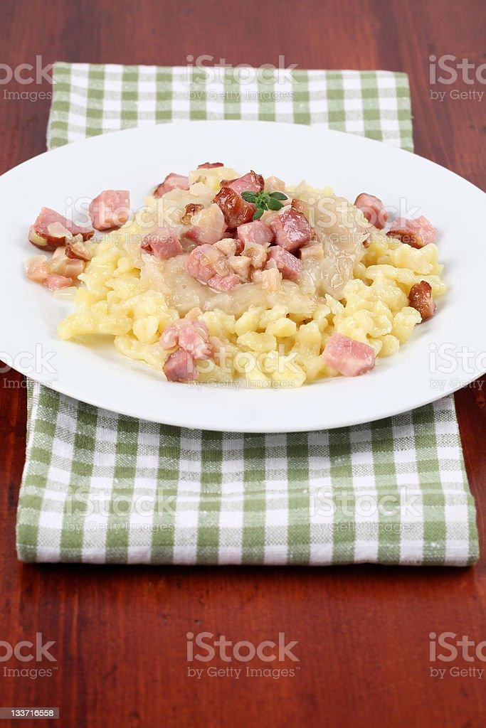 Halushky - Slovak national food royalty-free stock photo