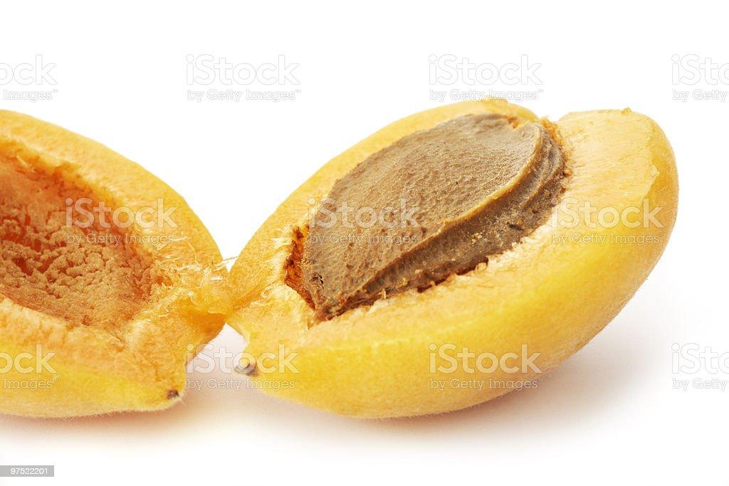 Halved Apricot royalty-free stock photo