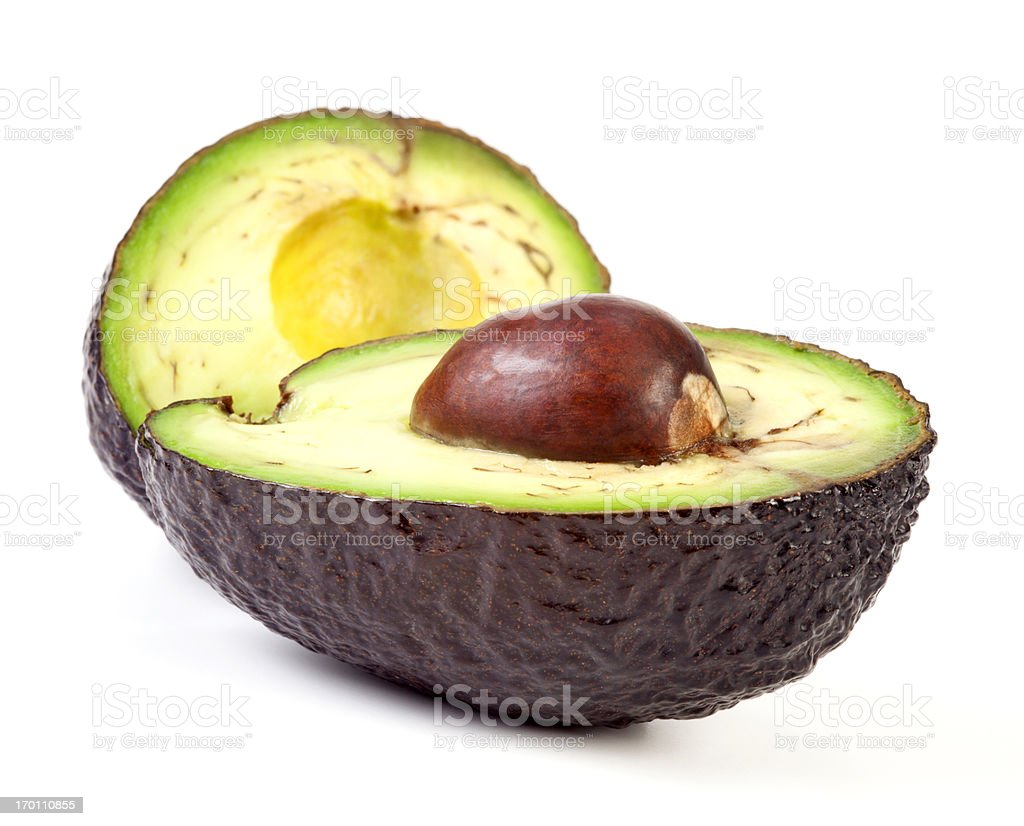 Halved Avocado stock photo