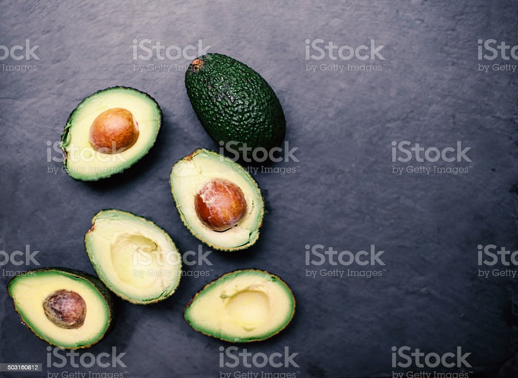 Halbiert Avocados Top Aussicht Avocado Machen Avocado Pasta Guacam