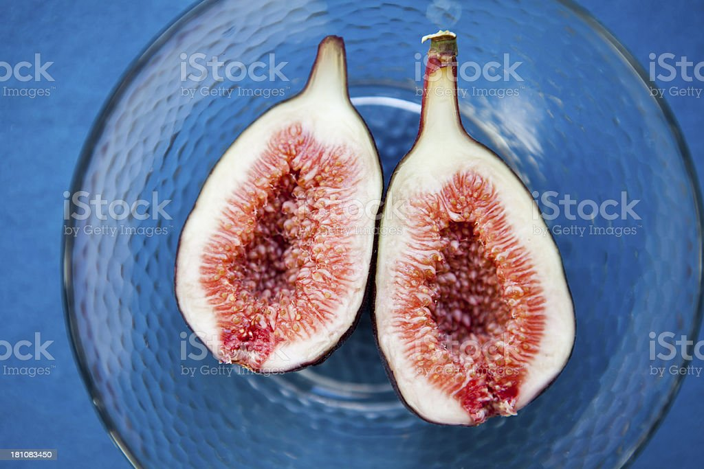 Halved Fig royalty-free stock photo