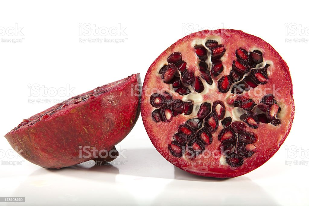 Halved Pomegranate royalty-free stock photo
