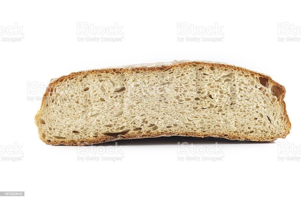 Halved rye bread royalty-free stock photo
