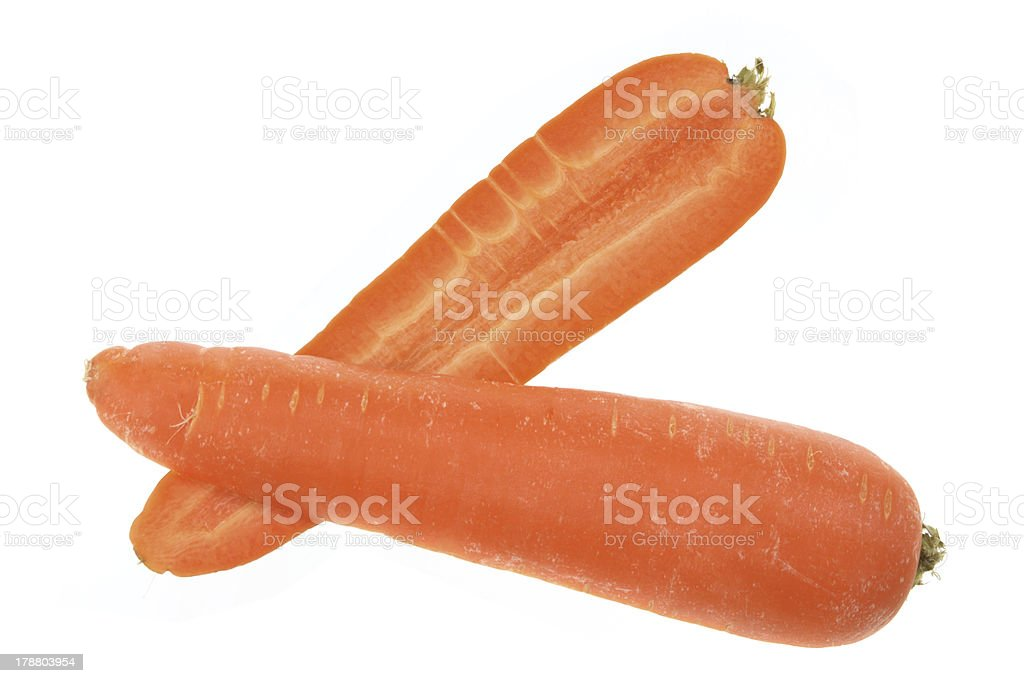 Halves of Carrot royalty-free stock photo