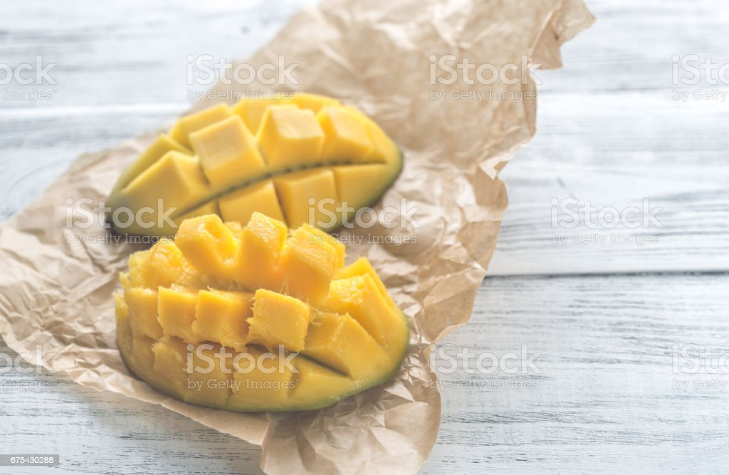 Mango yarısı royalty-free stock photo