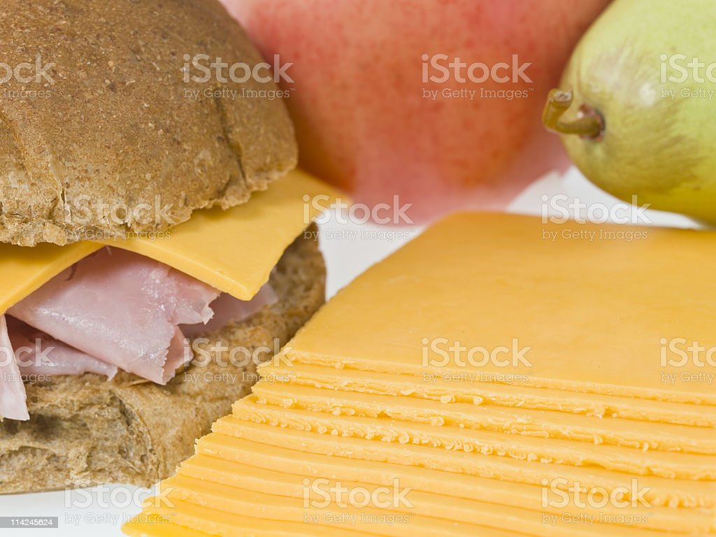 Ham and Cheddar Cheese Lunch royalty-free stock photo