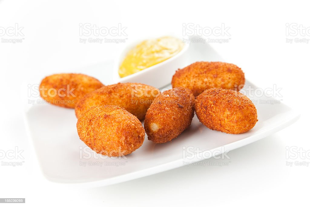 ham and cheese croquettes foto