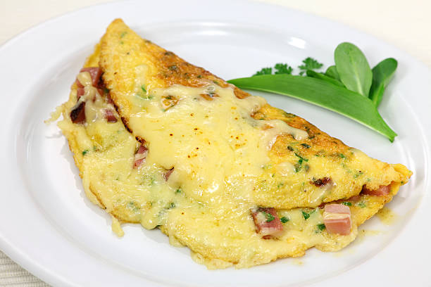Ham And Cheese Omelet stock photo
