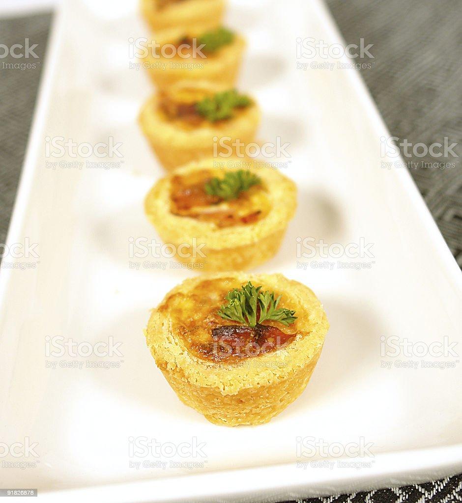 Ham and cheese pies stock photo