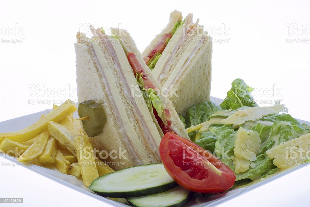ham and cheese sandwich 1 royalty-free stock photo