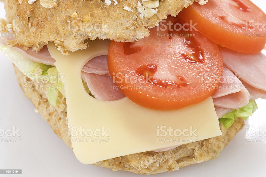 Ham and cheese sandwich 3 royalty-free stock photo