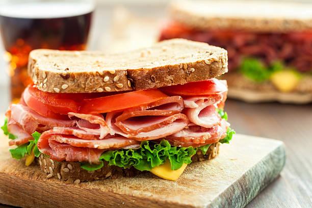 Schinken und Käse-Sandwich – Foto