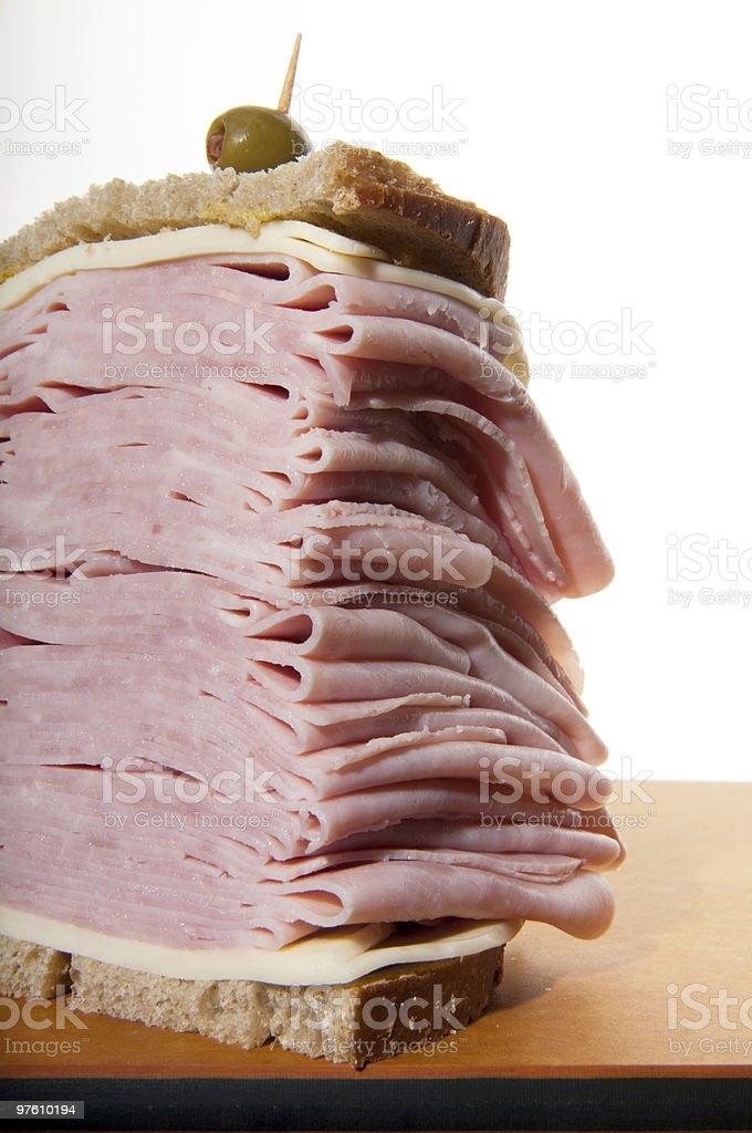 ham and cheese sandwich royaltyfri bildbanksbilder