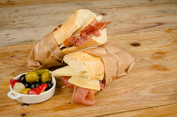 Ham and cheese  sub stock photo