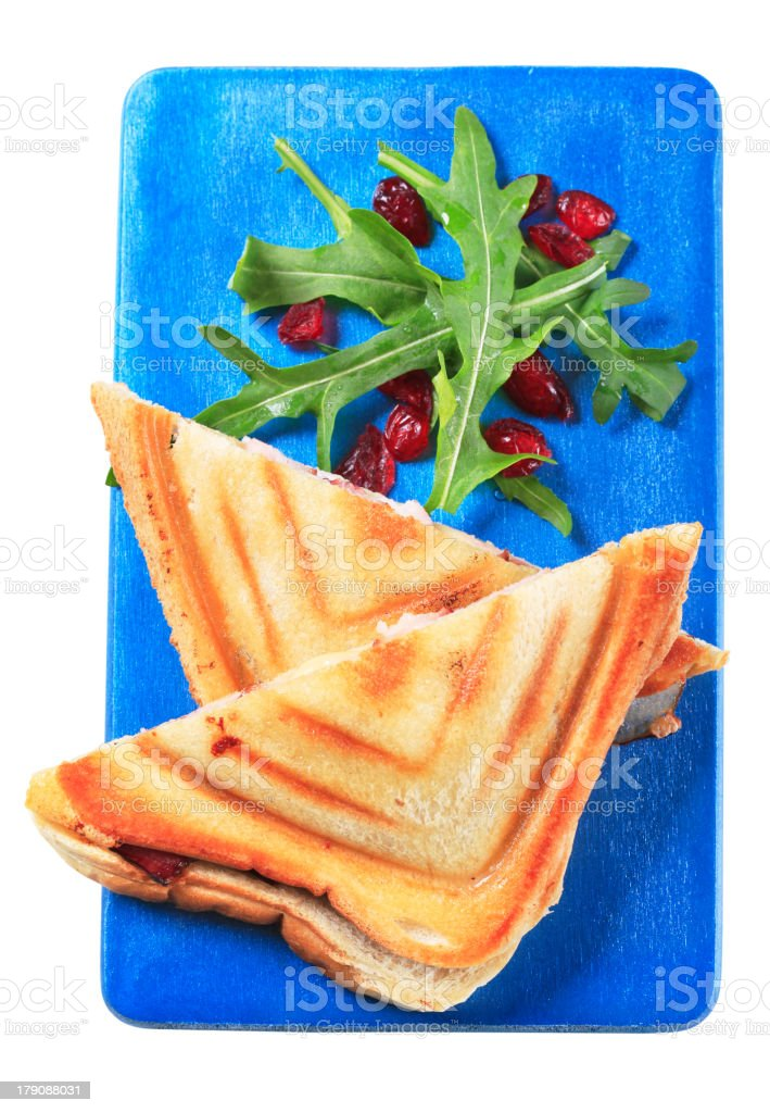 Ham and cheese toasties royalty-free stock photo