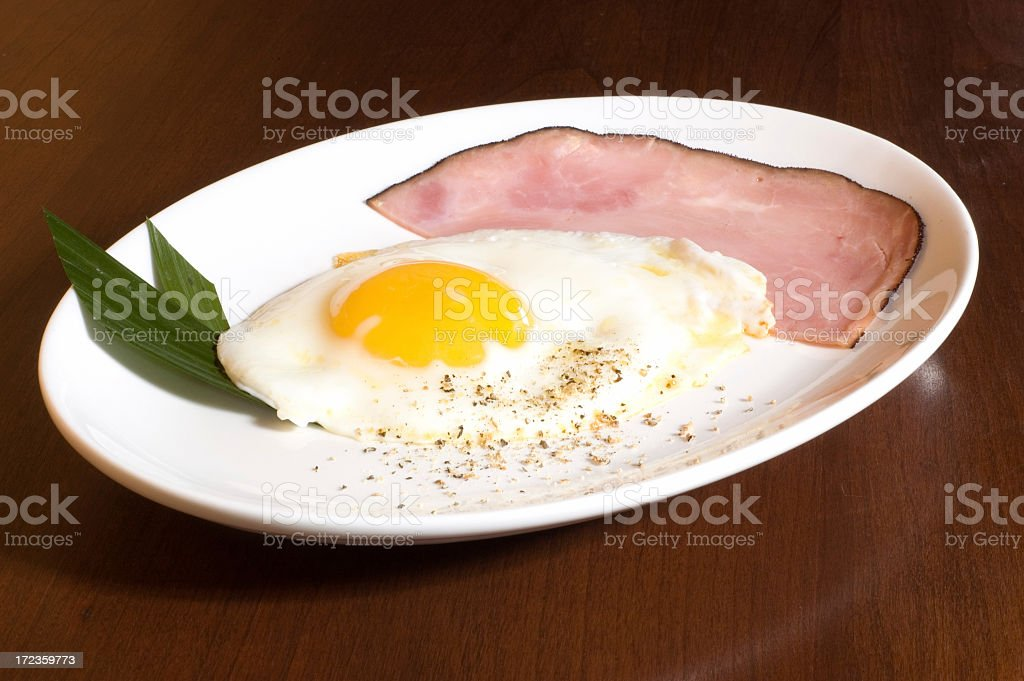 Ham and Egg Breakfast #1 royalty-free stock photo