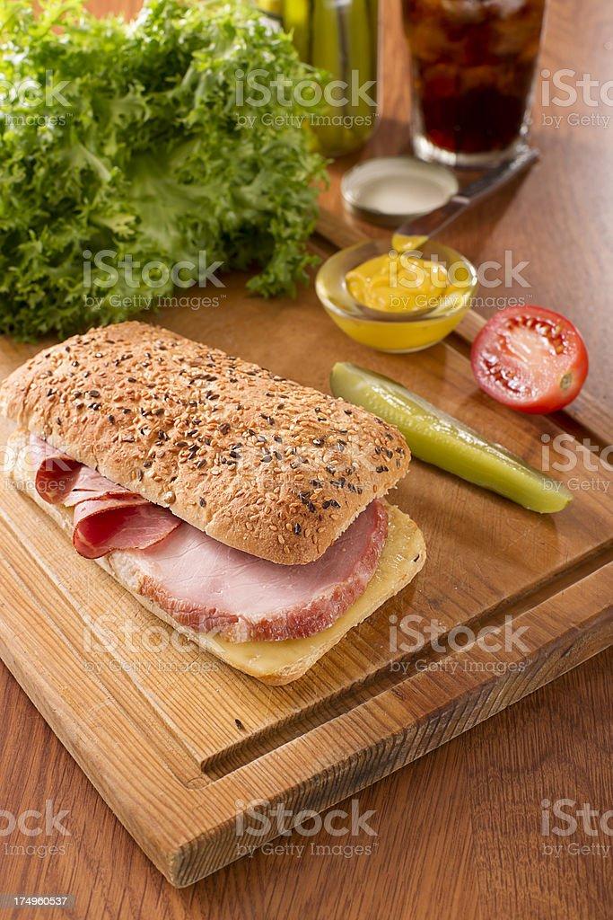 Ham and Pastrami Panini royalty-free stock photo