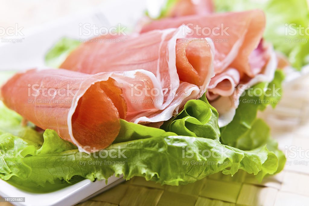 ham and salad royalty-free stock photo