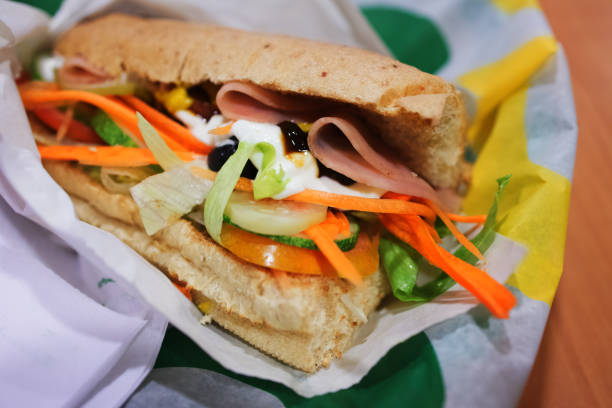 Ham and vegetable with whole wheat bread sandwich Ham and vegetable with whole wheat bread sandwich underground stock pictures, royalty-free photos & images