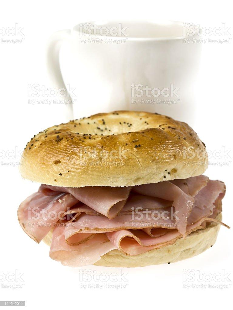 Ham Bagel Breakfast royalty-free stock photo