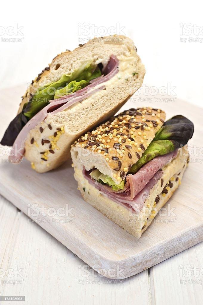 Ham Bagguette royalty-free stock photo
