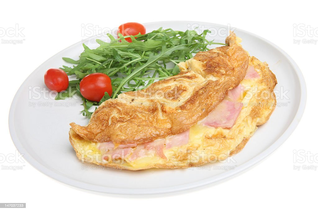 Ham & Cheese Omelet royalty-free stock photo