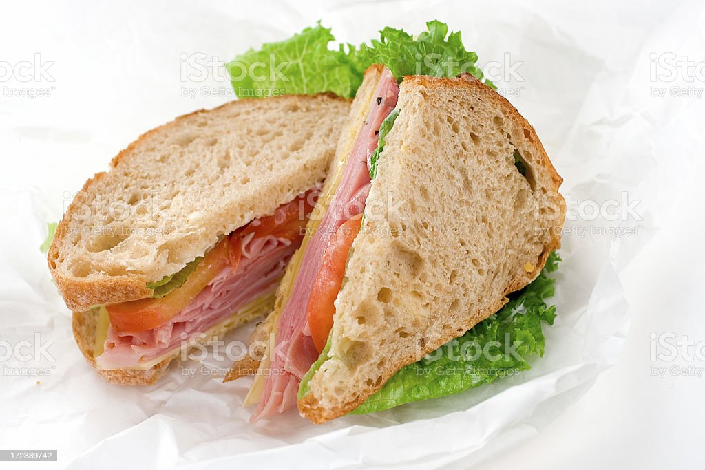 Ham & Cheese royalty-free stock photo