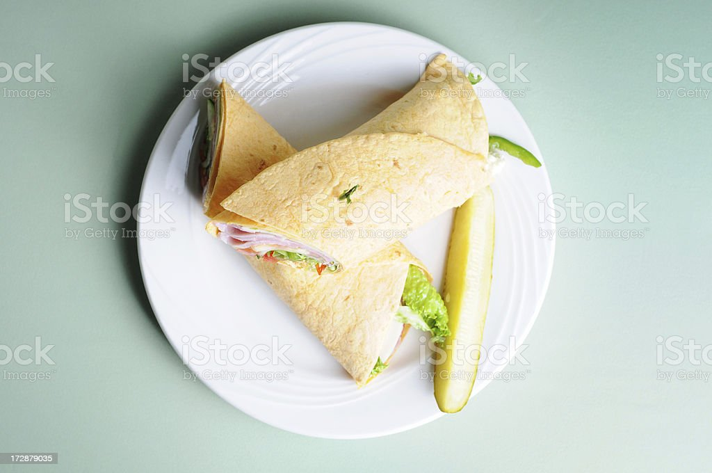Ham & Cheese Wrap royalty-free stock photo