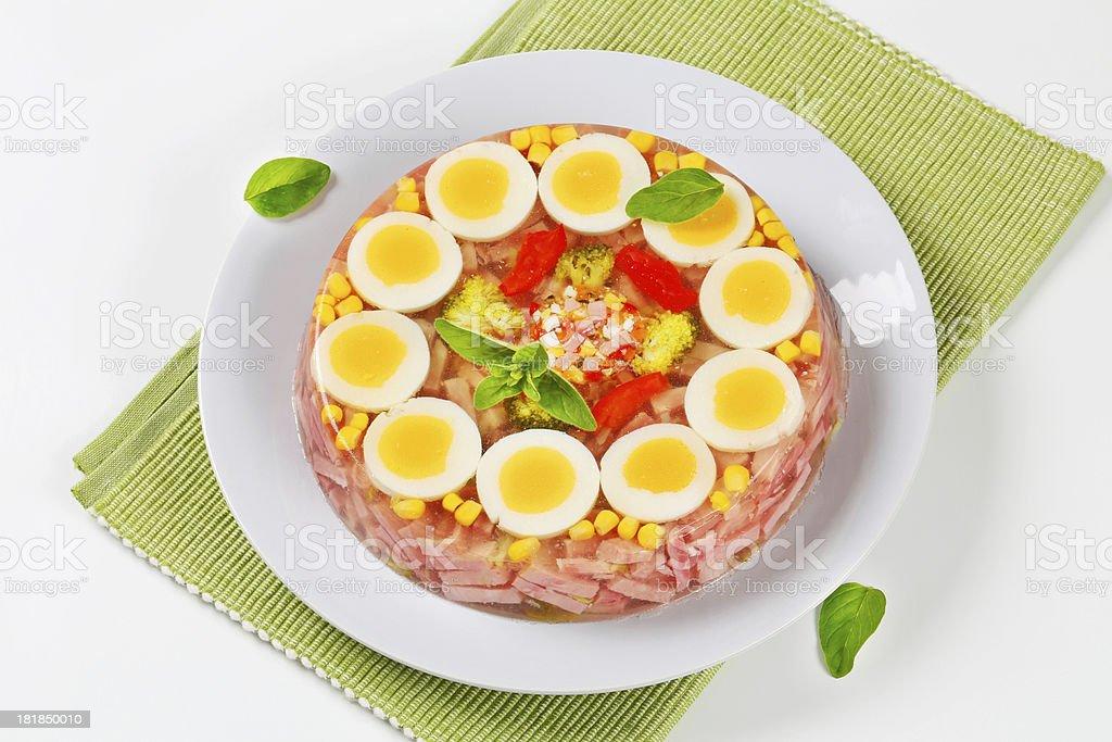 Ham & Egg Aspic Pie royalty-free stock photo