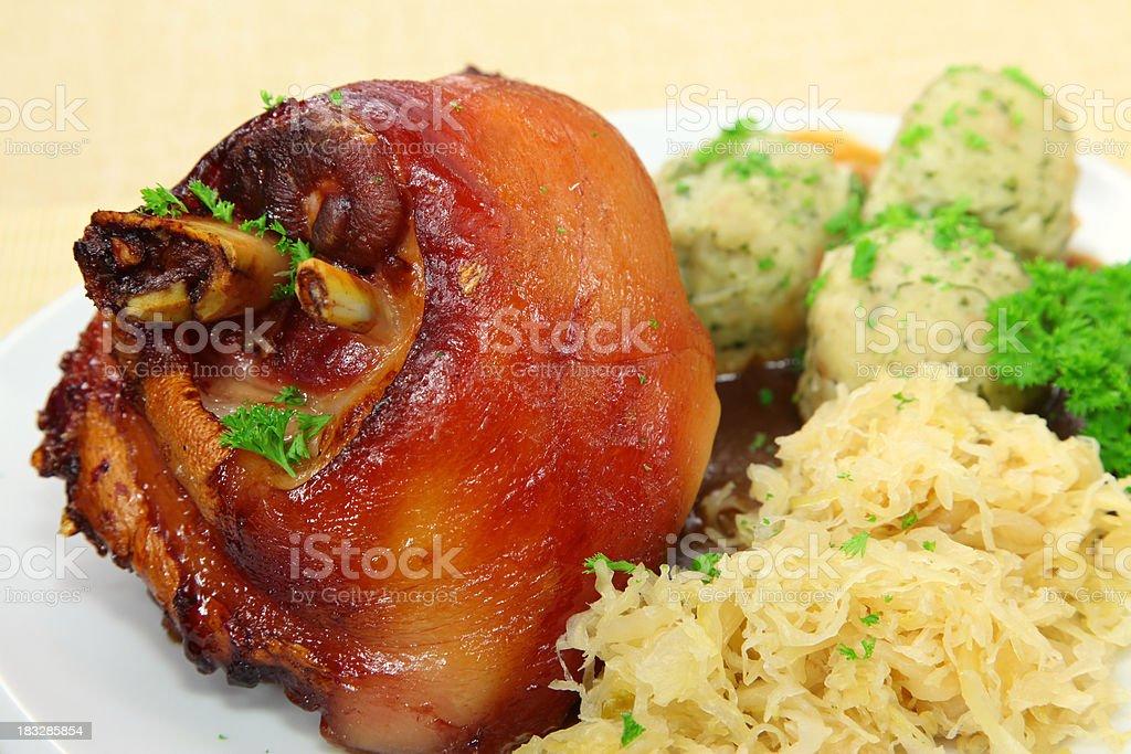 Ham hock or Haxe royalty-free stock photo
