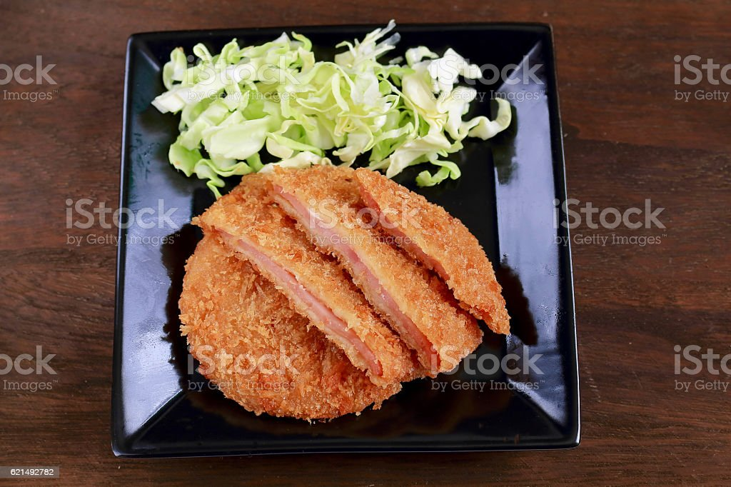Ham of cutlet photo libre de droits