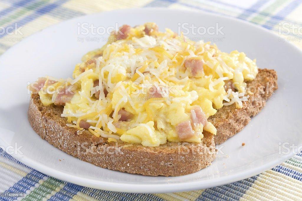 Ham Omelet on Toast royalty-free stock photo