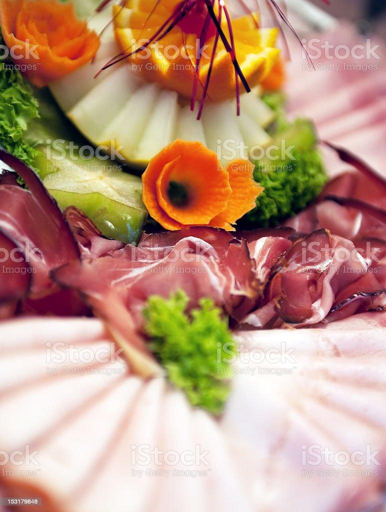 Ham on buffet royalty-free stock photo