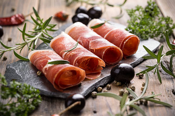 Prosciutto stock photo