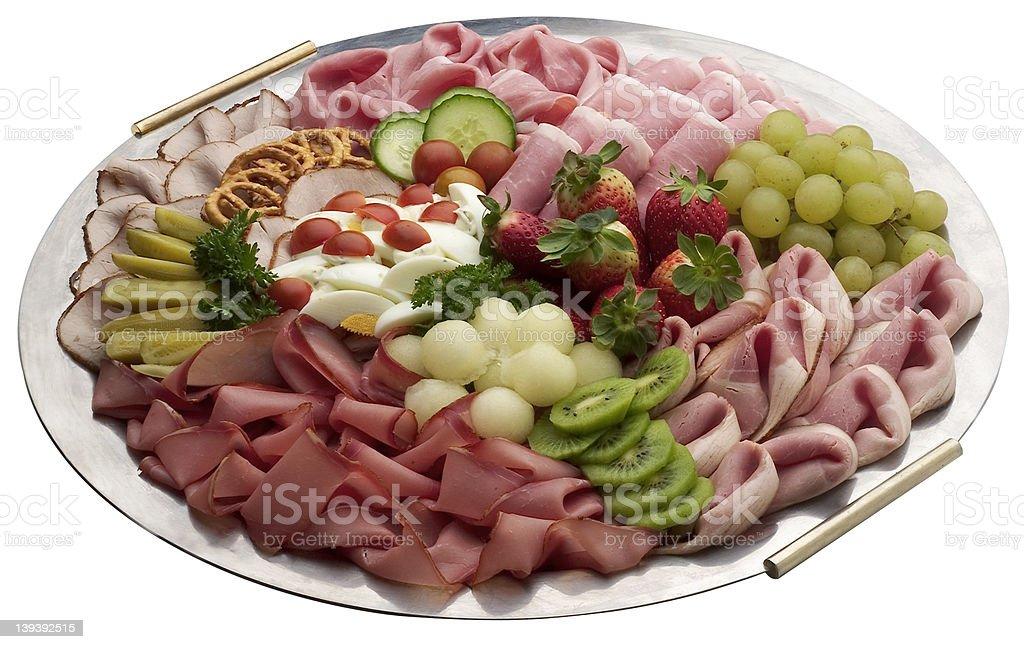 ham platter royalty-free stock photo