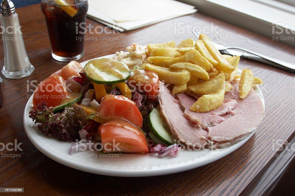 Ham pub lunch royalty-free stock photo