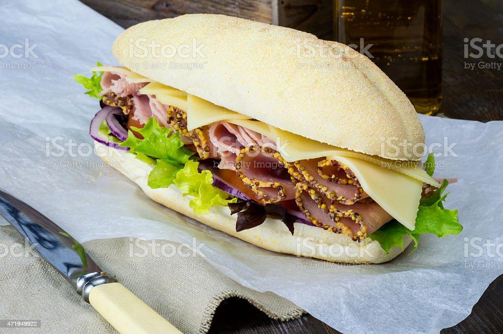 Ham Salad Deli Sub stock photo