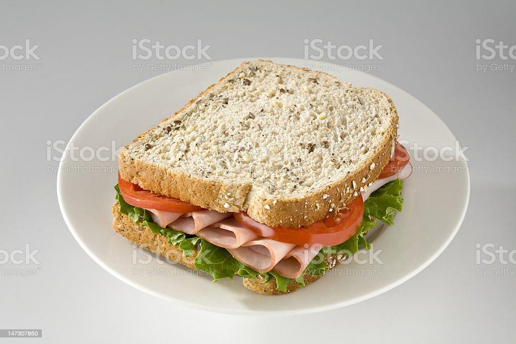 Ham sandwich royalty-free stock photo