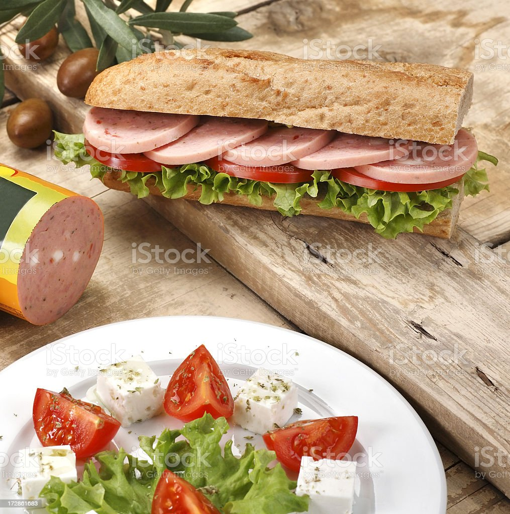 Ham sandwich royalty-free stock photo