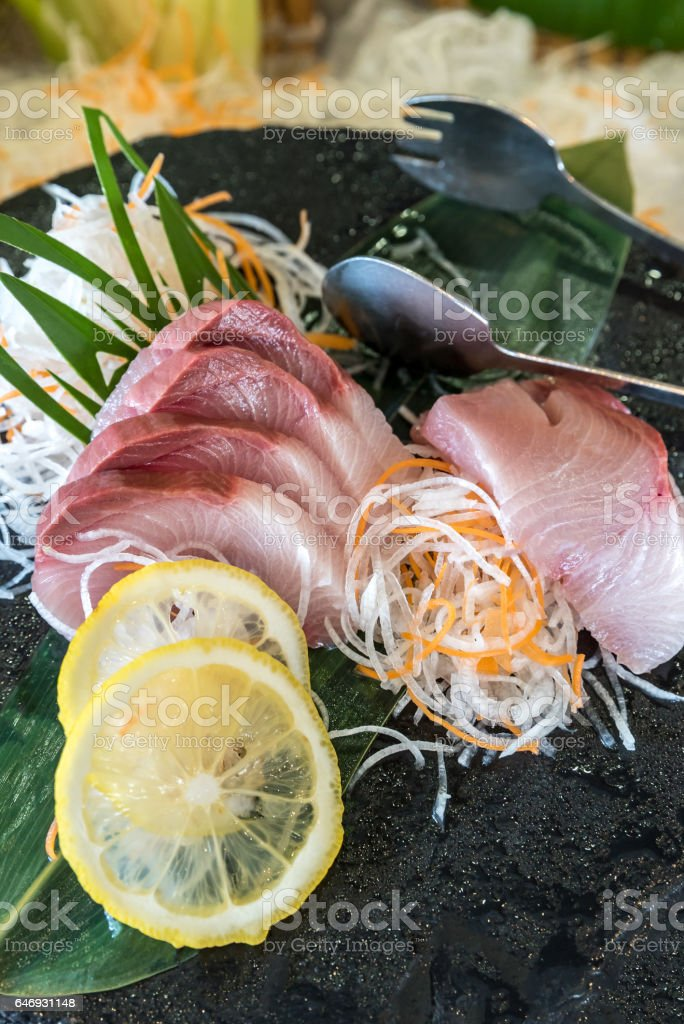 Hamachi Sashimi Stock Photo More Pictures Of Asian Food Istock