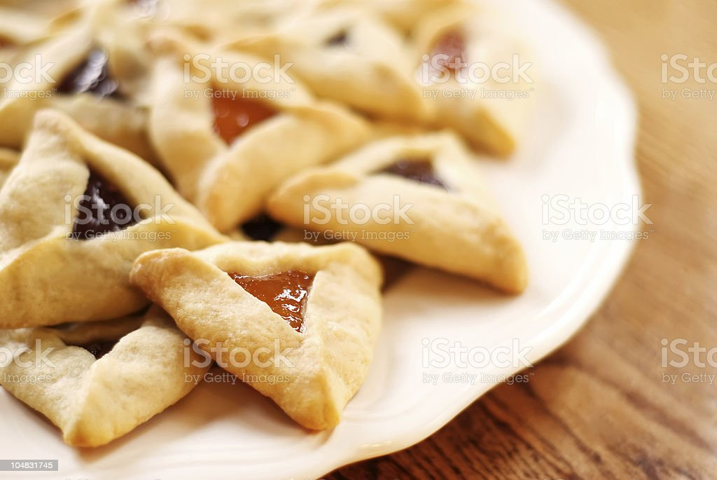 Hamantaschen Cookies royalty-free stock photo
