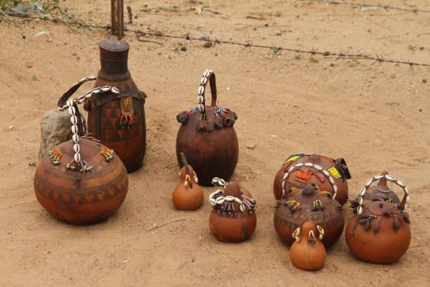 Hamar Tribe Pottery stock photo