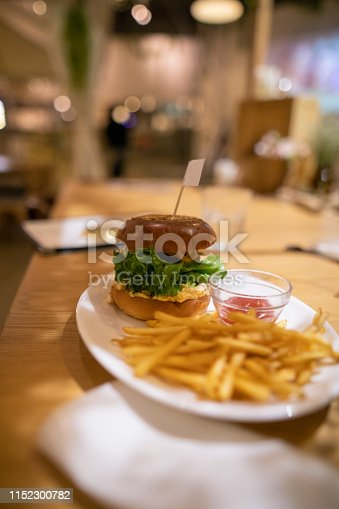 Hamburger for lunch