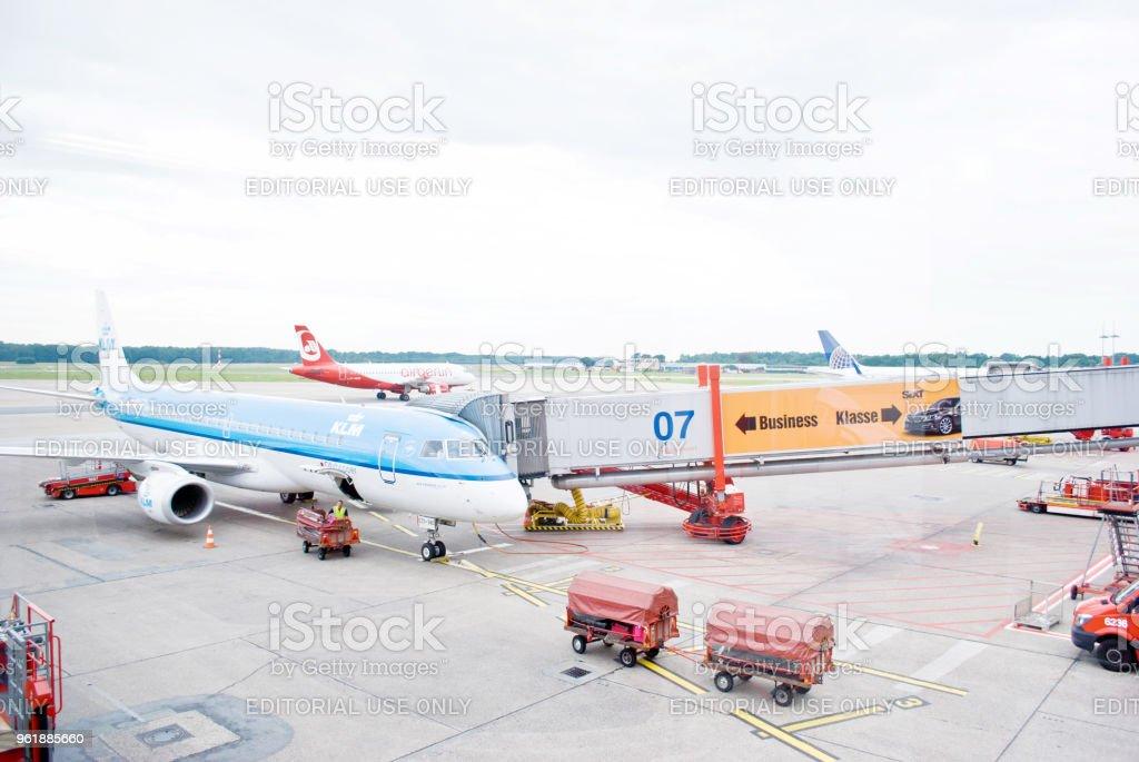 Flughafen Hamburg - Hamburg Airport, Germany stock photo