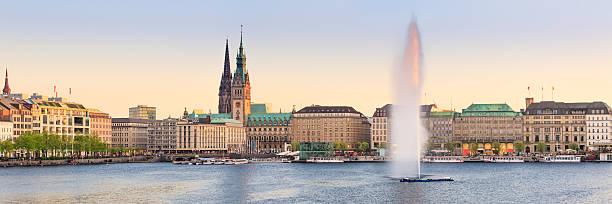 Hamburg Alster-panorama – Foto