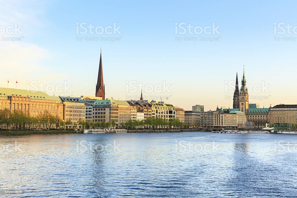 Alstersee in Hamburg Town hall – Foto