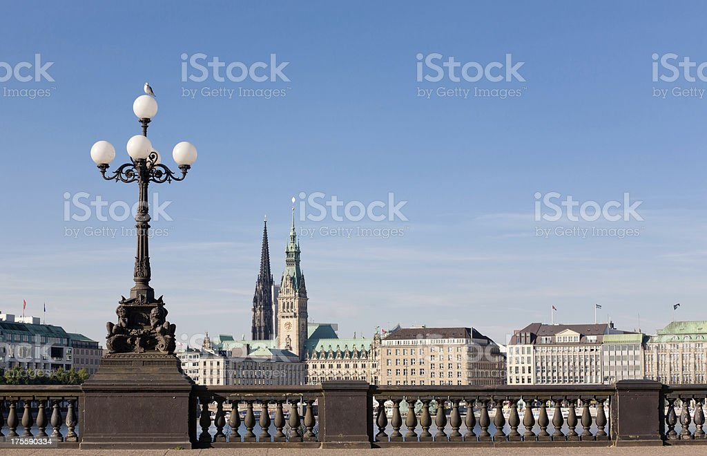 Hamburg Alster stock photo