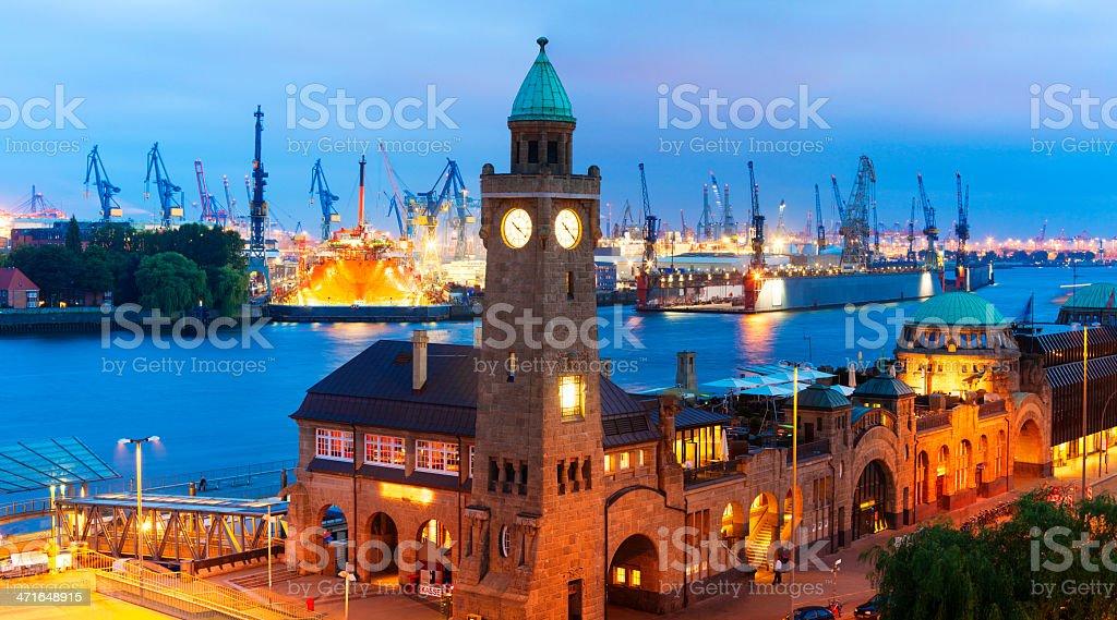 Hamburg at Night stock photo